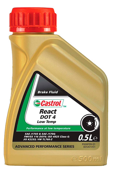 Castrol React DOT4 Low Temp