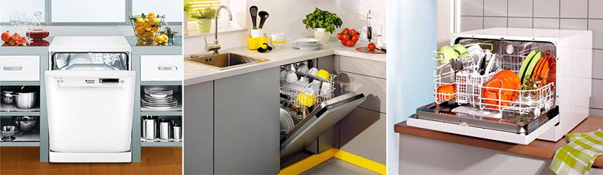 Бытовые посудомоечные машины размеры