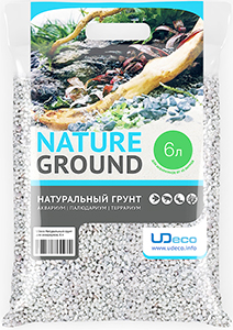 UDeco «Белый гравий», натуральный (3-5 мм) – качественный нейтральный грунт