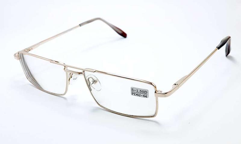 Очки с минеральными (стеклянными) линзами