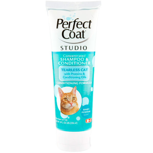 Perfect Coat Studio Concentrated Shampoo Conditioner Tearless Cat