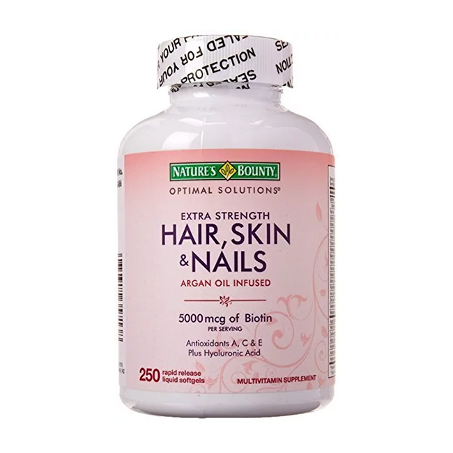Nature's Bounty Extra Strength Hair, Skin & Nails — с эффектом накопления