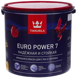 Tikkurila Euro 7 Power – моющаяся краска с гарантией