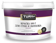 Tury Scandinavia Classic SW-7 Colour – цветная краска для потолков