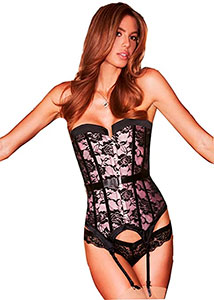 Baci Lingerie Satin and Lace Corset