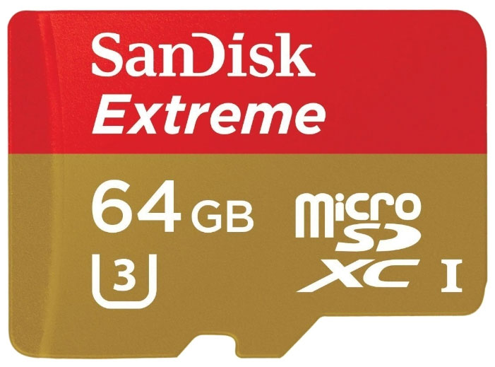 SanDisk Extreme microSDXC Class 10 UHS Class 3 60MB s